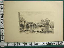 1885 PRINT STRATFORD-ON-AVON ~ STRATFORD BRIDGE