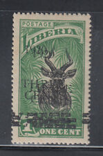 Liberia # 176b MNH Double 1920 Surcharge Fauna Bongo Antelope