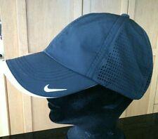 Nike Golf Black Baseball Cap Lightweight White Tick Swoosh Back Front One Size