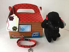 "Adopt-A-Pet Gift Set :4Pc: TY Beanie Baby ""GIGI"":Dog House Box:Bracelet"
