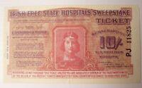 Irish Hospitals Sweepstake Ticket THE CAMBRIDGESHIRE 1933 Horse Race 10 Shilling