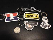 5 Vintage Retro Motorcycle Keychain Honda Yamaha Kawasaki Z1