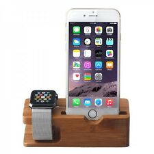 BAMBOO caricabatterie per Apple Watch Orologio 38mm 42mm Supporto Dock Docking Station
