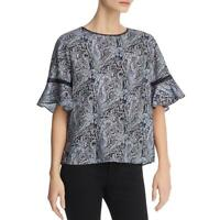 Le Gali Womens Kensey Paisley Printed Bell Sleeves Blouse Top BHFO 4903