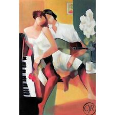 """Yunessi S/N Giclee on Canvas """"Romantic Courtship"""""""