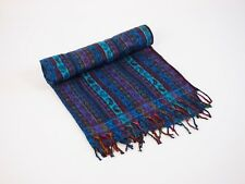 NEW WOVEN SHAWL/BLANKET/WRAP PAISLEY STRIPE THROW FROM INDIA VERY LARGE SIZE