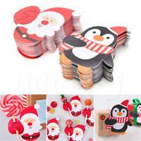 25pcs Christmas Lollipop Sticks Paper Candy Chocolate Cake Pops Party Decor Gift