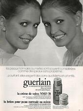 ▬► PUBLICITE ADVERTISING AD GUERLAIN lotion pour peau crême 1978