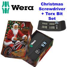 WERA Stainless Kraftform Kompakt 41 Christmas Screwdriver Rapidaptor Set, 136090