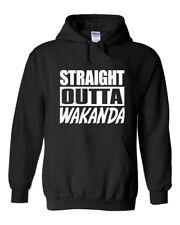 "Blank Panther Wakanda ""Straight Outta Wakanda""  HOODIE HOODED SWEATSHIRT"