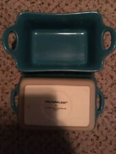 New listing Rachael Ray Au Gratin Dishes 12 Oz Stoneware Teal Set of 2 New