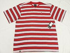 $28 NWT NEW Mens Akademiks T-Shirt Alden Striped V-Neck Tee Size 3XL 3XB 3X N128