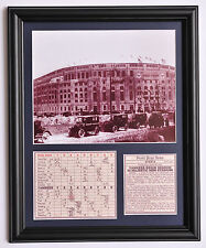 New York Yankees old Stadium opening day 1923 framed photo tribute
