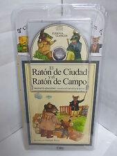 EL RATON DE CIUDAD Y EL RATON DE CAMPO LIBRO Y AUDIO CD CUENTOS NINOS ILUSTRADO