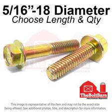 516 18 Grade 8 Hex Flange Screws Frame Bolts Zinc Yellow Pick Length Amp Qty