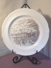 Copeland Spode, J.F. Herring, 'Full Cry', Brown Dinner Plate