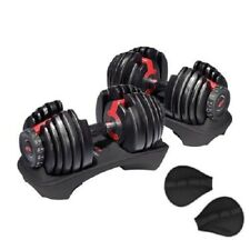 2 Bowflex SelectTech 552 Dumbbells (1 Pair) Adjustable Weight from 5 to 52.5 lbs