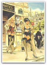 Ex-libris Félix Meynet Pin-up 2021 Paris Pigalle Hôtel 199ex signé 21x29,7 cm
