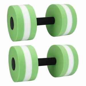 Foam Dumbbells Water Aerobic Exercise Hand Bars Pool Resistance Equipment 2 Pcs