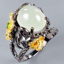 Vintage Natural Aquamarine 925 Sterling Silver Ring Size 7.5/R117216