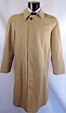 AQUASCUTUM NUOVA Filey DK beige trench rain coat taglia 38 S SHORT MADE IN ITALY NUOVO CON ETICHETTA