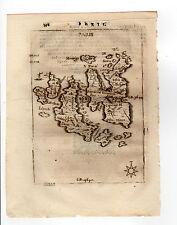 GREECE PIACENZA 1688 MAP OF PARIS PAROS