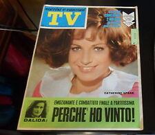 TV SORRISI E CANZONI nr. 2/1968 Cover: CATHERINE SPAAK *ottime condizioni*