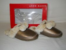 Anne Klein New Womens Gab Light Bronze Scuff Slippers 5 M Shoes NWOB