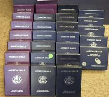 FULL SET PROOF SILVER EAGLE BOXES AND COA'S NO COINS (1986-2012) 26 BOXES TOTAL