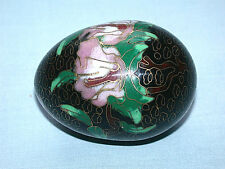 Beautiful Vintage Chinese Floral Cloisonne Champleve Egg
