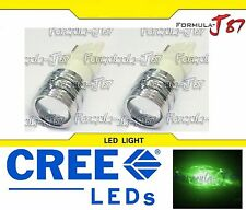 CREE LED Light 5W 3156 Green Two Bulbs Front Rear Turn Signal Parking Drive Side