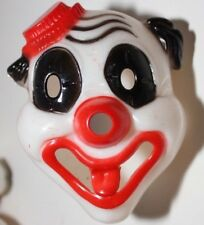 CLOWN HEAD FLASHLIGHT COVER CREEPY ODD VINTAGE PLASTIC HALLOWEEN