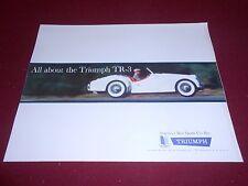 1960 TRIUMPH TR-3 SHOWROOM BROCHURE / 60 TR3 SALES CATALOG / 18 x 22 POSTER