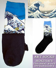 ART SOCKS Hokusai GREAT WAVE Kanagawa LADIES Mens ANKLE HIGH WOVEN DESIGN GIFT