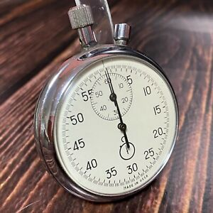 RARE Soviet Two-Button Stopwatch Agat Zlatoust Mechanical Pocket Made in USSR