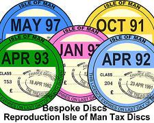 Isle of Man Replica / Reproduction Vintage Vehicle Road Tax Disc Manx TT Bespoke