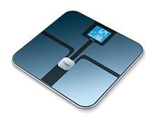 Pèse-personnes et balances bleus en verre, pour salle de bain