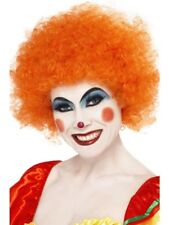 Orange Crazy Clown Wig 120g Adult Unisex Smiffys Fancy Dress Costume