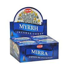 Hem Incense Cone Myrrh 12 Packs = 120 Cones Free Shipping