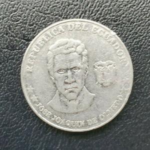 Ecuador 25 centavos, 2000, stainless steel coin, KM# 107, Jose Joaquin de Olmedo
