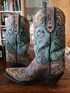 Womens Dan Post Bluebird Western boots.  Size 8M. RRP $479.