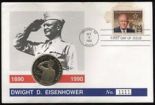 1990 Marshall Island $5 Five Dollars Dwight D Eisenhower FDC***Collectors***