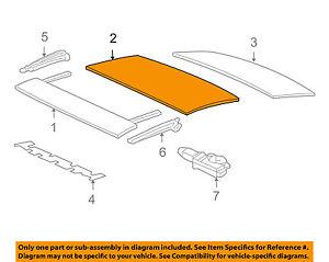 Scion TOYOTA OEM 05-06 tC-Sunroof Moonroof Glass 6320121050