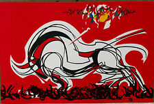 Lithographie Raymond Moretti tirage ancien sur vélin