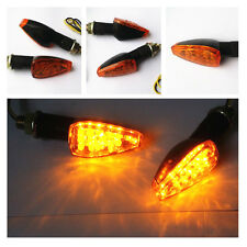 BLACK LED MOTORCYCLE TURN SIGNAL FOR HONDA KAWASAKI SUZUKI YAMAHA YZ DUAL SPORT