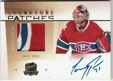 2009/10 UPPER DECK THE CUP SIGNATURE PATCHES CAREY PRICE PATCH AUTO 52/75