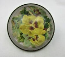 New ListingAntique, Vintage, Glass Domed Horse Bridle Rosette, Pansy Flower, Beautiful !