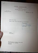 1950 Letter To President Coca-cola  Hobbs mouse found in a bottle of Coca-cola