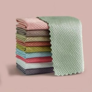 Nano Scale Streak-Free Miracle Hygienic Cleaning Cloths Reusable High Absorbance