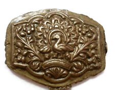 1800'S - VINTAGE - INDIA HAND ENGRAVED - JEWELRY MAKER'S - PEACOCK  DIE MOLD-4
